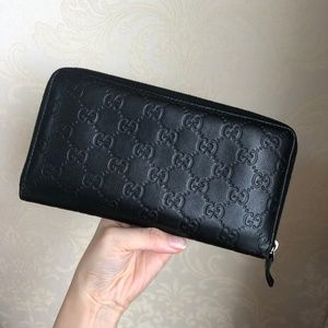 Gucci Bags - Black Large Guccissima Twins Wallet